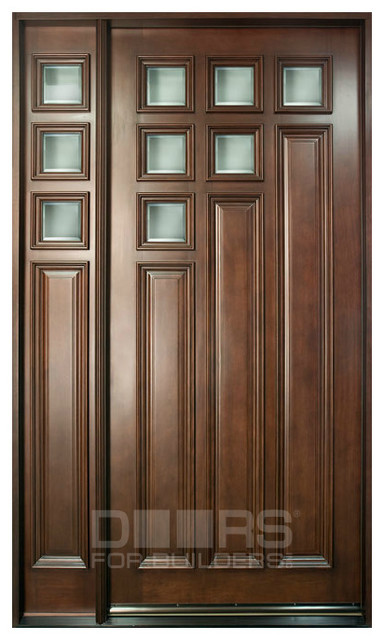 Modern collection custom solid wood doors contemporary for Modern single front door designs for houses