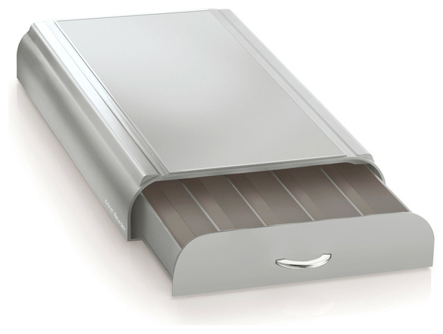 Nespresso Capsule Drawer 50 Capacity, Silver and Gray, Grey - Modern ...