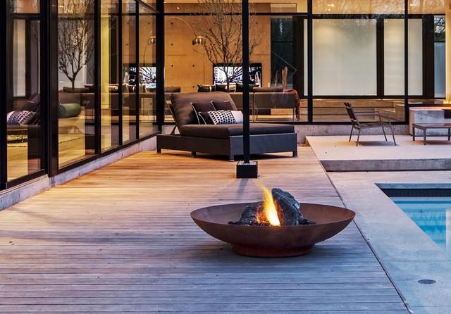 Backyard Nature Store Oakville : Oakville Uber Modern  Modern  Fire Pits  Other  by Paloform