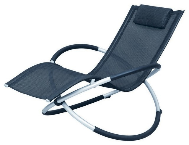 Largo modern black metal chair modern outdoor chaise for Black metal chaise lounge outdoor