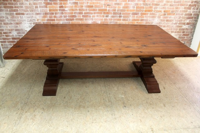 8 ft x 5 ft reclaimed farm table Rustic Dining Tables Boston