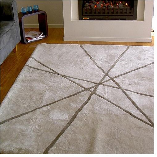 Sheepskin Rug Short Pile: Sheepskin Lines Design Rug