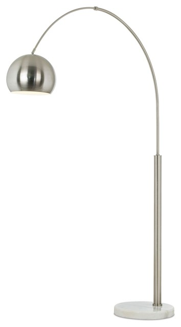 Pacific coast floor lamp brushed steel arc modern for Contemporary floor lamps gold coast