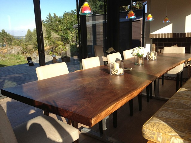 Live Edge Black Walnut Dining Table Streaming With