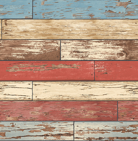 weathered wood wallpaper red white and blue bolt