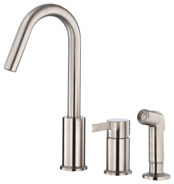 kitchen faucet w spray stainless steel modern kitchen faucets