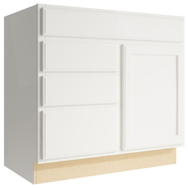 Cardell Cabinets Stig 36 in. W x 34 in. H Vanity Cabinet Only in Lace ...