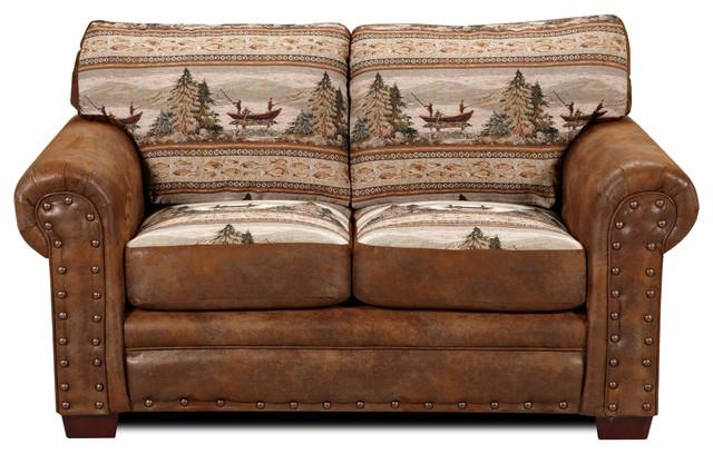 alpine lodge loveseat rustic loveseats by american furniture classics