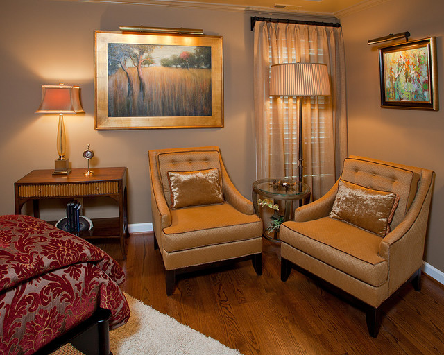 Master bedroom sitting area bedroom other by for Sitting hall interior designs