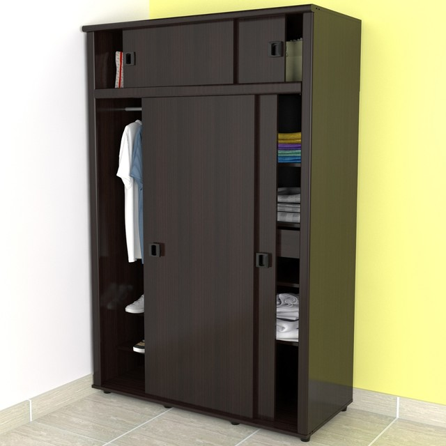 armoire in espresso wenge finish modern armoires and wardrobes. Black Bedroom Furniture Sets. Home Design Ideas