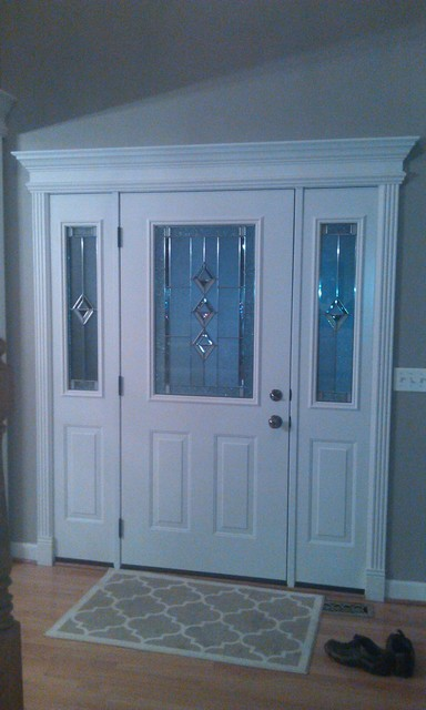 Entry door with White Door Interior & Crown Molding - Traditional - Front Doors - Other - by ...