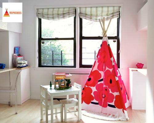 Marimekko Teepee Play Tent in Kids Room
