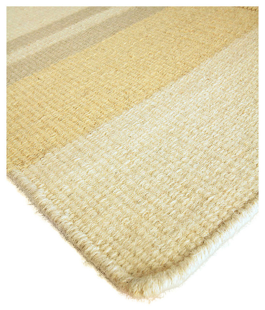 Lighthouse creme wool berber stripe rug 9 39 x12 for Wool berber area rug