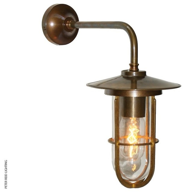 Exterior Wall Lights Industrial : LENA WELL GLASS WALL LIGHT - Industrial - Outdoor Wall Lights - south east - by Peter Reid Lighting