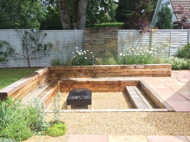 Contemporary mediterranean garden in knutsford cheshire for Garden design knutsford
