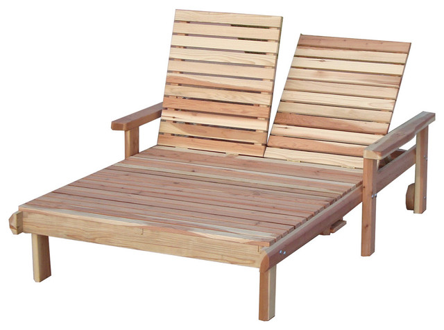Beach Lounger Double Mahogany 30x48x72 With Arms Wheels And Sliding Tabl