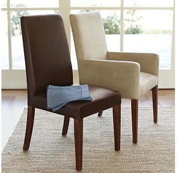 Grayson Armchair Performance Everydaysuede Tm Oat Traditional Dining Chairs By Pottery Barn