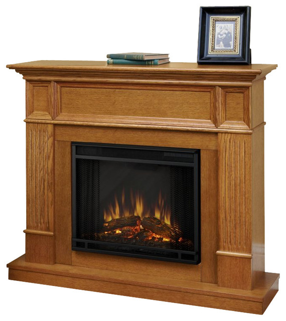 Real Flame Camden Electric Fireplace in Light Oak - Traditional - Indoor Fireplaces