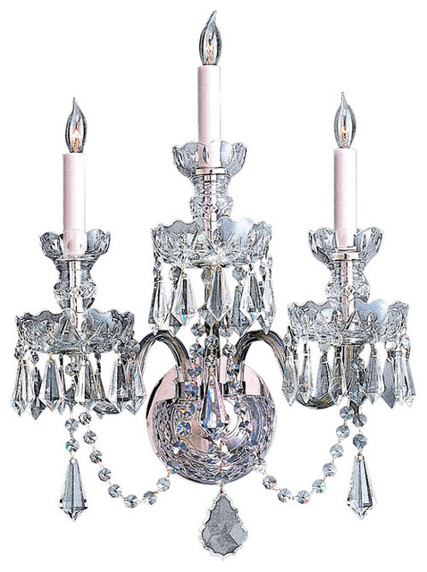 Traditional Crystal Wall Lights : Crystorama Lighting Wall Lantern Traditional crystal - Traditional - Wall Sconces - by Rlalighting