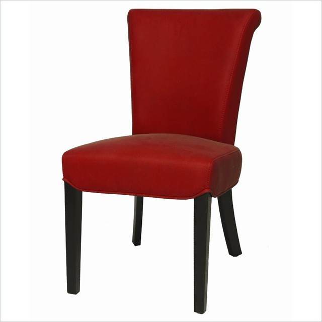 Pastel Hannah Side Chair Ballarat Black Bonded Red Leather Contemporary