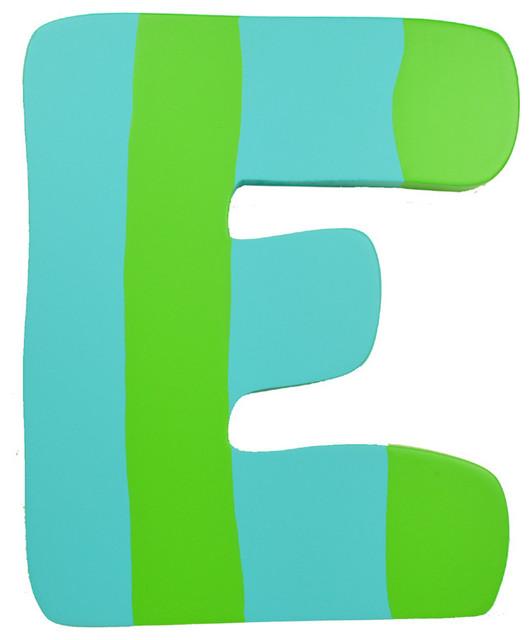 Green Amp Blue Stripe Wall Letter E Modern Wall