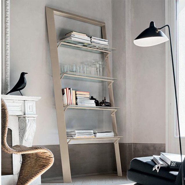 Modern book minimalist leaning bookcase by target point for Modern minimalist bookcase