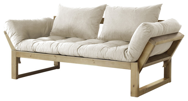 Edge Convertible Futon Natural Contemporary Futons By Edgewood Ave