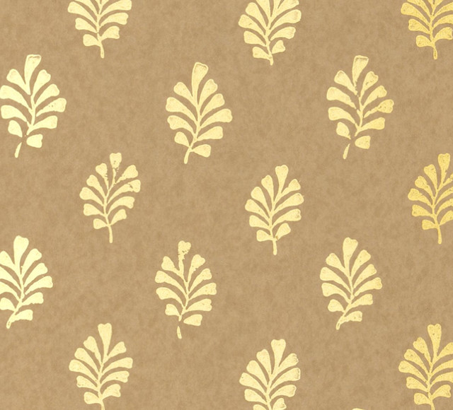 metallic gold leaf wallpaper modern wallpaper by furbish