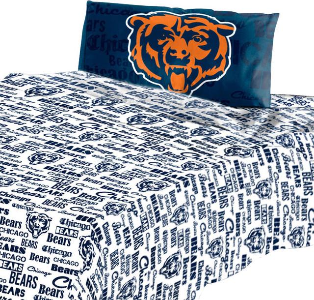Nfl Chicago Bears Twin Sheet Set Football Anthem Bedding