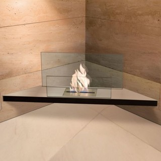 Corner Flame Fireplace by Radius - Modern - Indoor Fireplaces - by Lumens