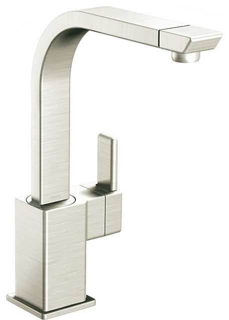 moen 90 degree high arc classic stainless kitchen faucet