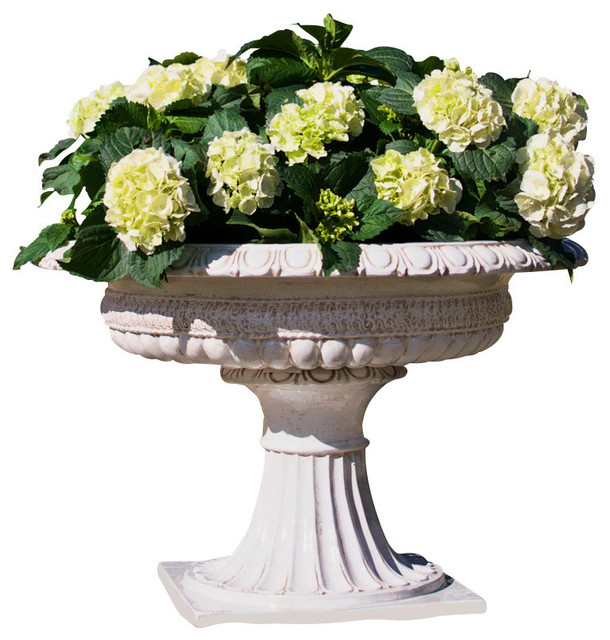 Planter Footed Antique White Extra Large Traditional