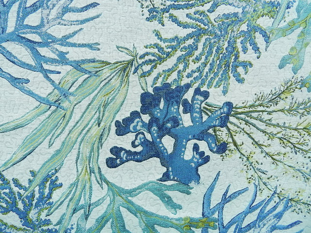 Coral Reef Oceanside Beach Style Upholstery Fabric