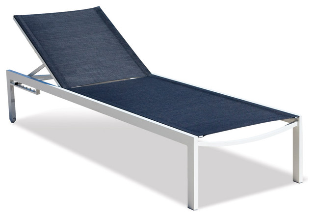 Piano Mesh Sunlounger Modern Outdoor Chaise Lounges los angeles by Vi
