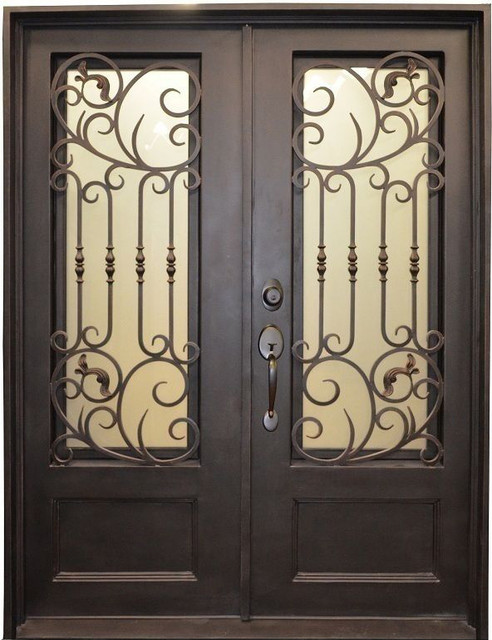 62 X80 3 4 Lite Metal Painted Wrought Iron Front Entry