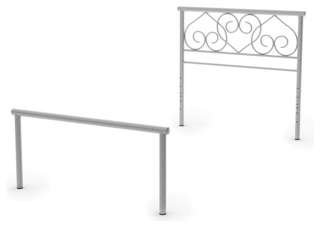 twin metal headboard and footboard classique t te de lit par shopladder. Black Bedroom Furniture Sets. Home Design Ideas