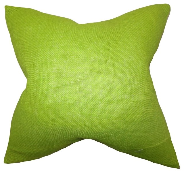 Throw Pillow Lime Green : Ellery Solid Pillow Lime Green - Transitional - Decorative Pillows - by The Pillow Collection