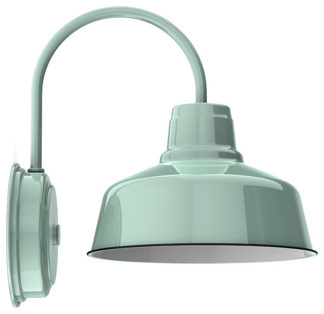 Wheeler Esso Wall Sconce, Jadeite - Contemporary - Wall Sconces - by Barn Light Electric Co