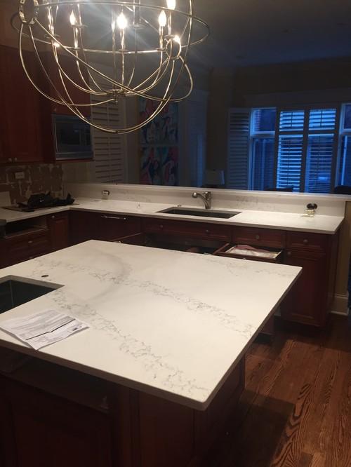 Nuvo Countertop Paint : Has anybody had Caesarstone calacatta nuvo countertop installed?