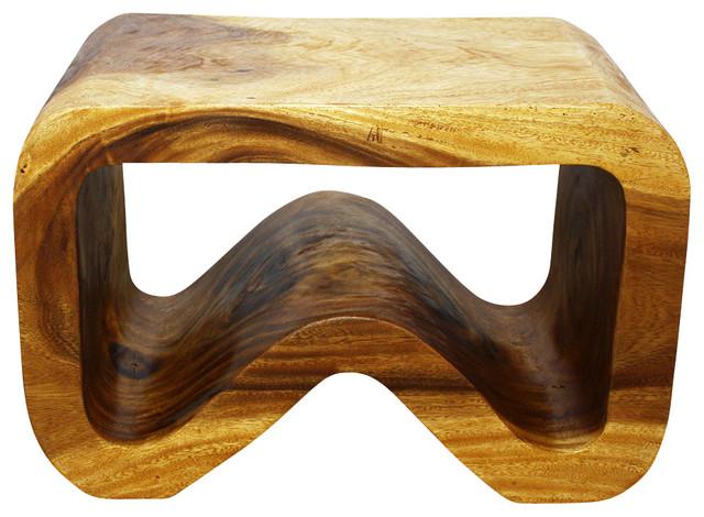 b bench 24l x 14w x 15 inch h sus monkey pod wood w eco. Black Bedroom Furniture Sets. Home Design Ideas