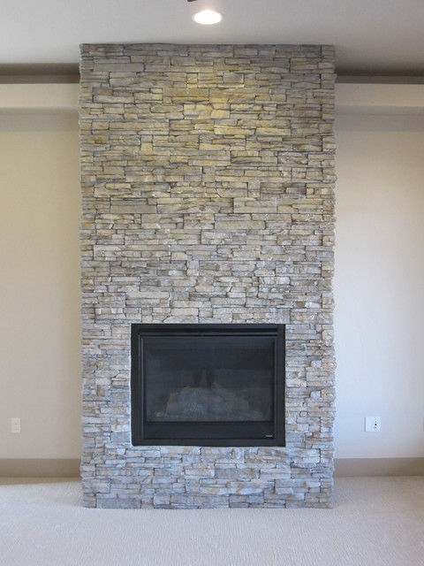 Coronado Stacked Stone Indoor Fireplaces Boise By