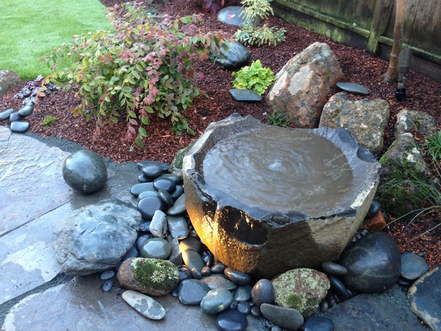 Basalt Basin Water Feature Asian Outdoor Products San Francisco By Zenscape