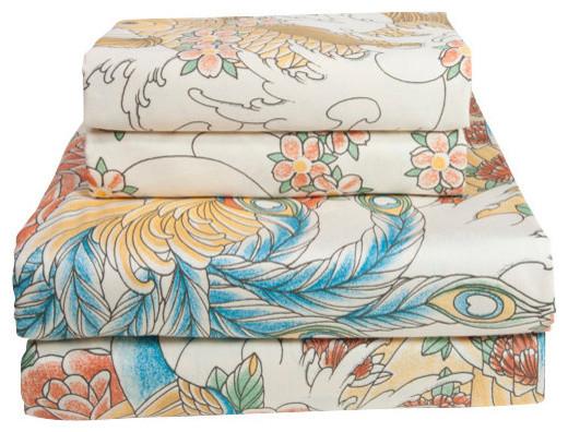 Geisha Garden Sheet Set, Twin