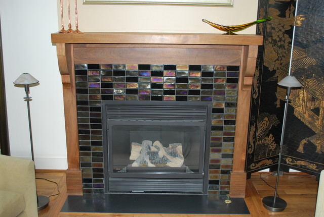 Oceanside Glass Tile Fireplace Loft Downtown Rochester NY