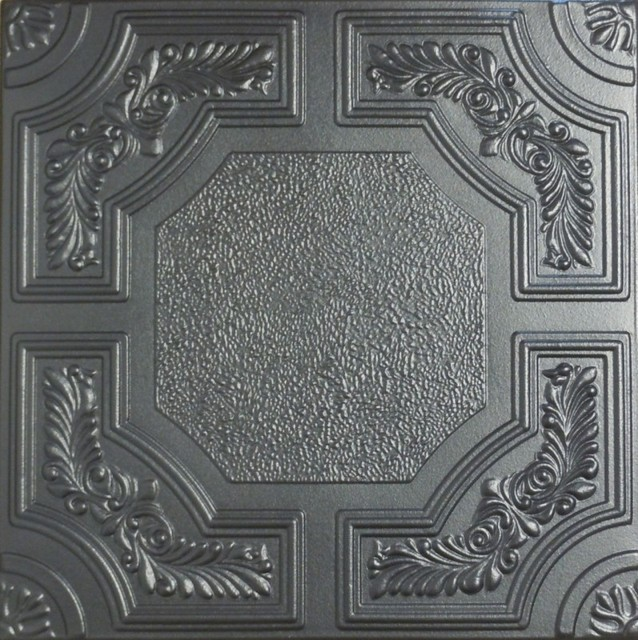 Decorative Bathroom Ceiling Tiles : R styrofoam ceiling tile black