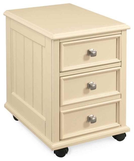 File Cabinet In Buttermilk Finish Contemporain Meuble
