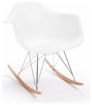 Plastic Rocker in White by Rove Concepts - Midcentury - Rocking Chairs ...