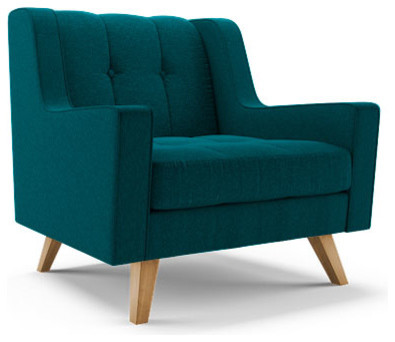 Chair lucky turquoise blue midcentury armchairs and accent chairs