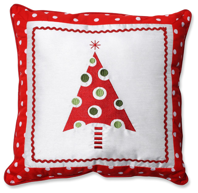 Framed Christmas Tree Throw Pillow - Contemporary - Decorative Pillows - by Pillow Perfect Inc