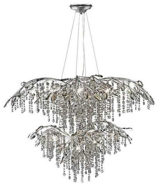 Golden Lighting 9903 18 Msi Chandelier In Mystic Silver